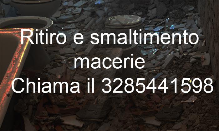 Banner contatti ritiro macerie Edilcasa